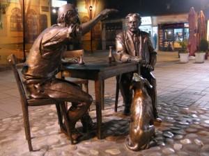 Estatua de Stevan Sremac en Kazandzisko Sokace