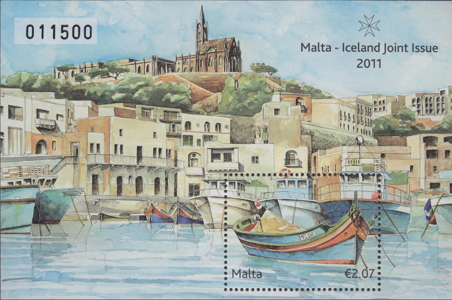 De Islandia a Malta en dos sellos