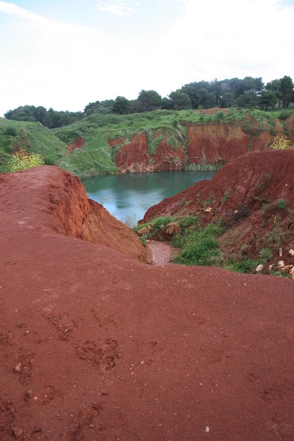 Las minas de bauxita de Otranto en Puglia