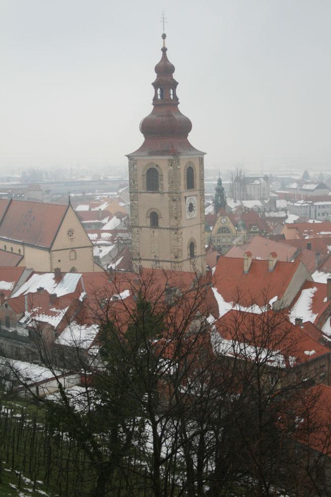 Vista de Ptuj desde el castillo