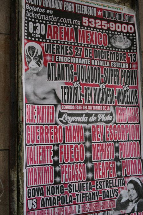 Cartel de lucha libre mexicana
