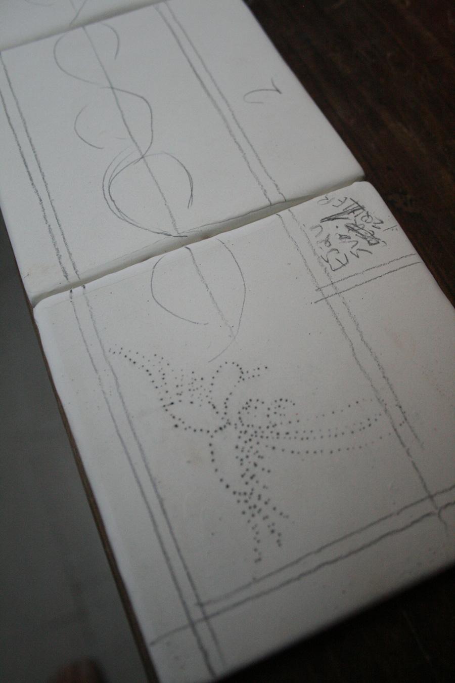 Diseño a mano de la decoración de la Talavera
