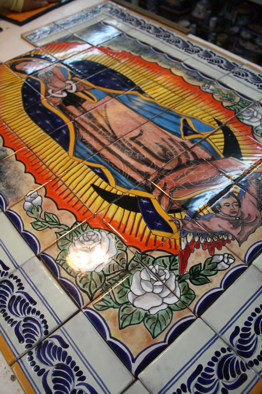 Virgen de Talavera ya montada