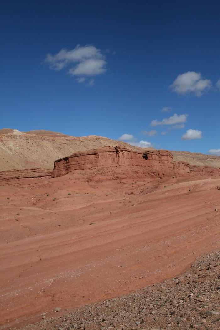 Paisaje de mil tonalidades en la montaña del Atlas. Foto de El Giróscopo Viajero ©
