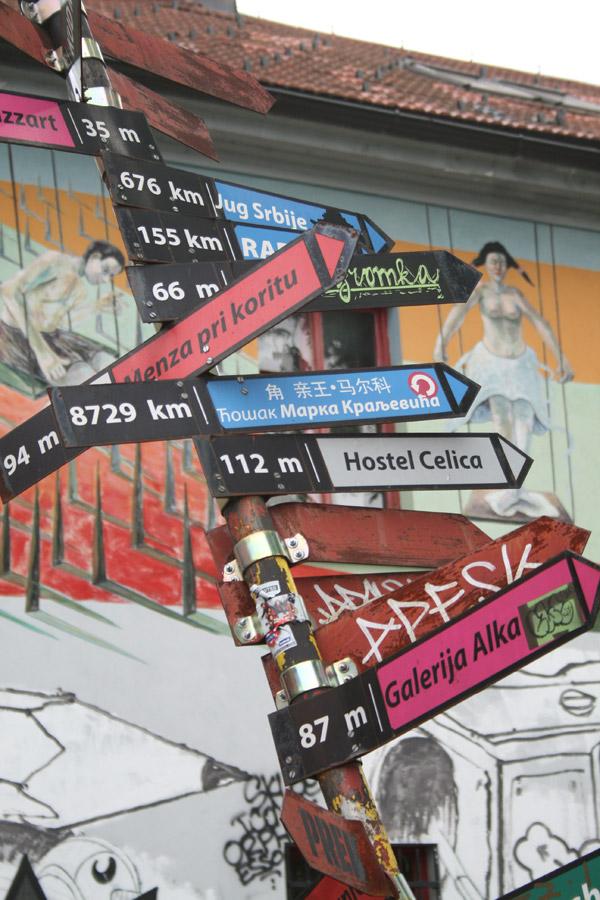 Arte en el Centro Metelkova Mesto en Liubliana