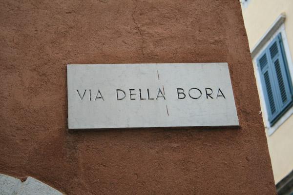 Calle de la Bora, el viento típico de Trieste.