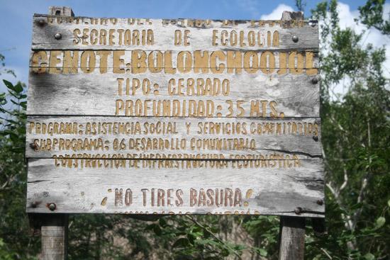 Profundidad de Bolonchoojol: 35 metros
