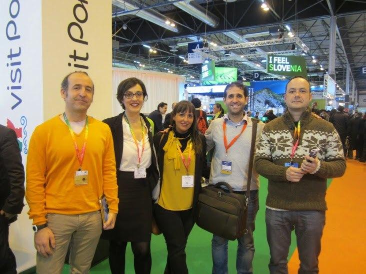 Algunos miembros de El Giróscopo Viajero en Fitur 2015, Madrid. Ⓒ G. Viajero.