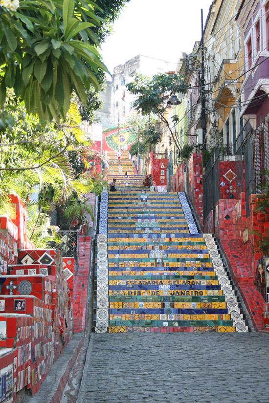 La escalera de Selarón en Río de Janeiro