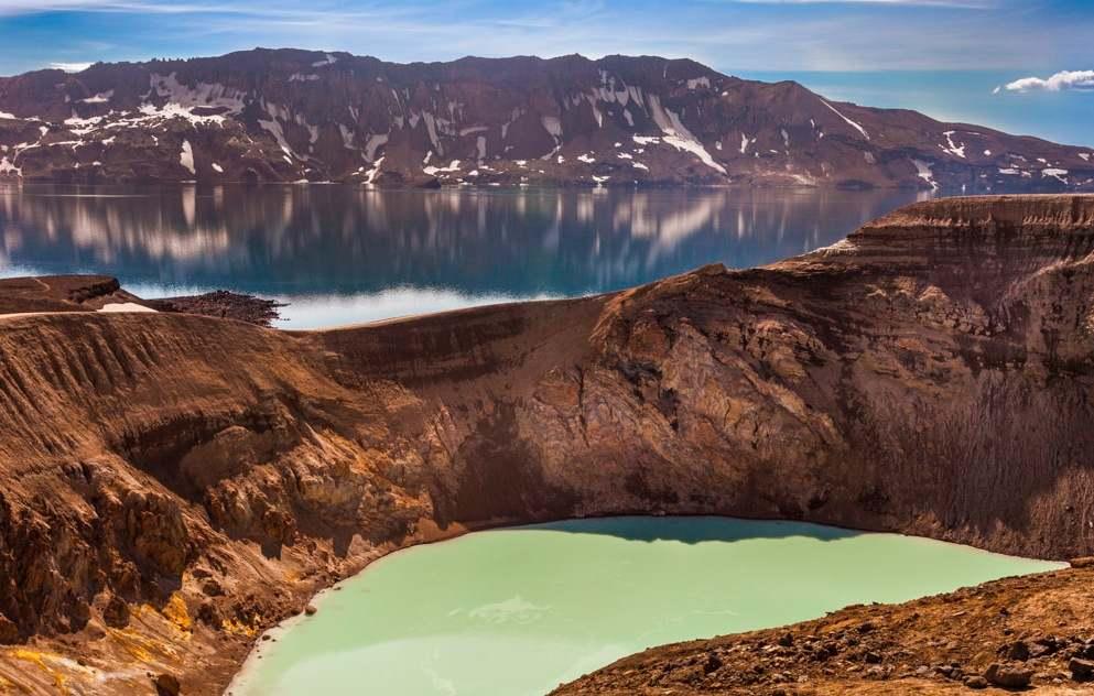 El cráter de Viti, uno de os lugares más visitados de la zona de Askja.