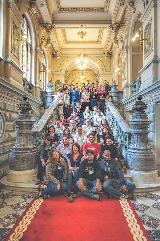 Todos los invitados en el Palacio Presidencial de Cotroceni. Foto de Dragos Asaftei.