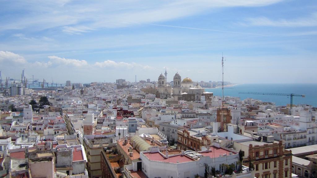 La ciudad de Cádiz desde el mirador de la Torre Tavira: un espectáculo. © María Calvo.
