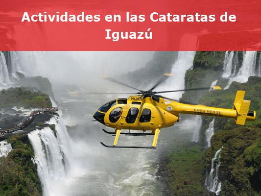 Actividades organizadas en las cataratas de Iguazú