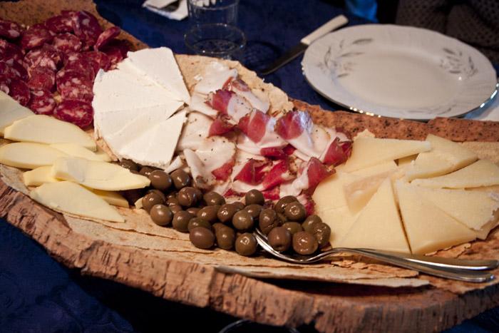 Degustación de productos típicos de Cerdeña