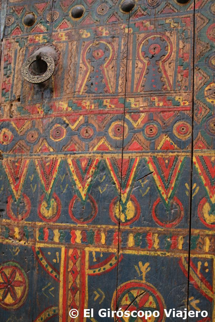Puerta colorida de Marrakech