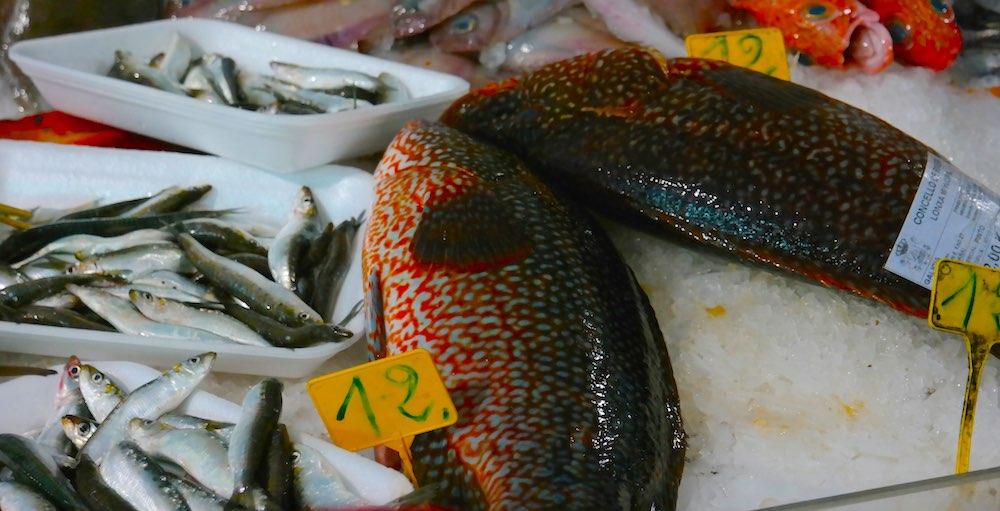 """""""Pintos"""" en el mercado de Ribeira. A degustar en el horno. @Iñigo Pedrueza."""
