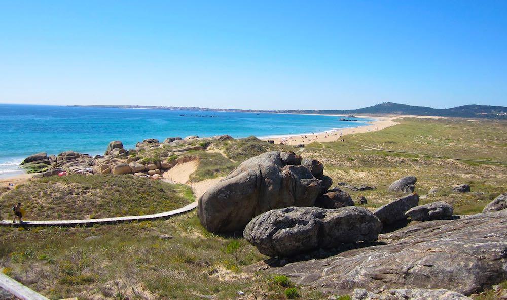Playa de Vilar, entre Ribeira y Corrubedo. Posiblemente una de las mejores playas de España.