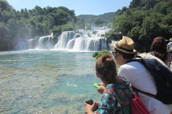 Parque Natural de krka con sus cascadas