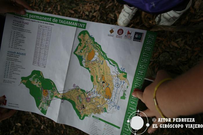 Recorrido de orientación por el Montseny para alcanzar elTuró del Tagamanent