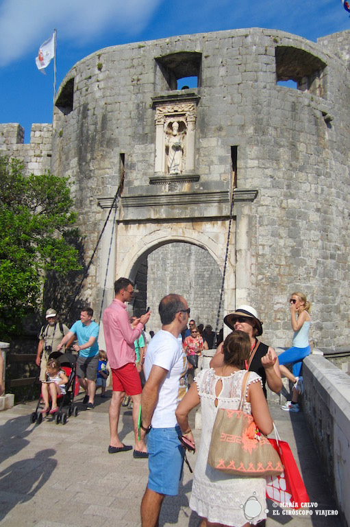 La puerta Placa, entrada a la historia de Duvrovnik