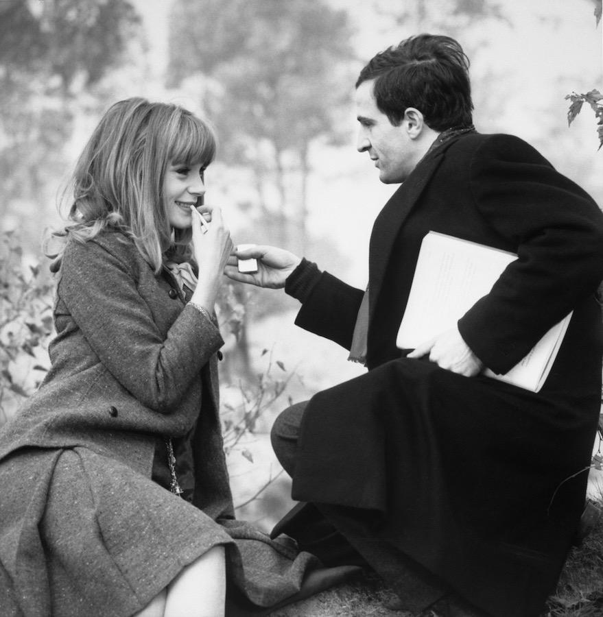 Françoise Dorleac con Truffaut en la Piel Suave. Foto de Raymond Cauchetier