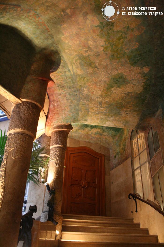 Patio interior de la Pedrera donde recogimos la acreditación de prensa