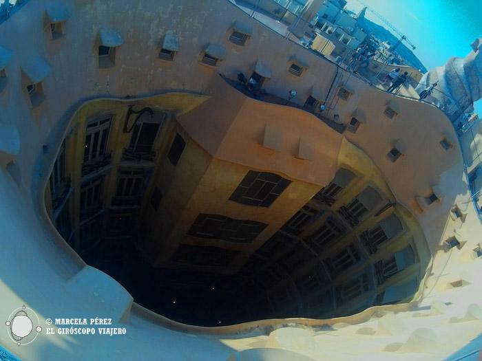 Vista panorámica desde la azotea de la Pedrera