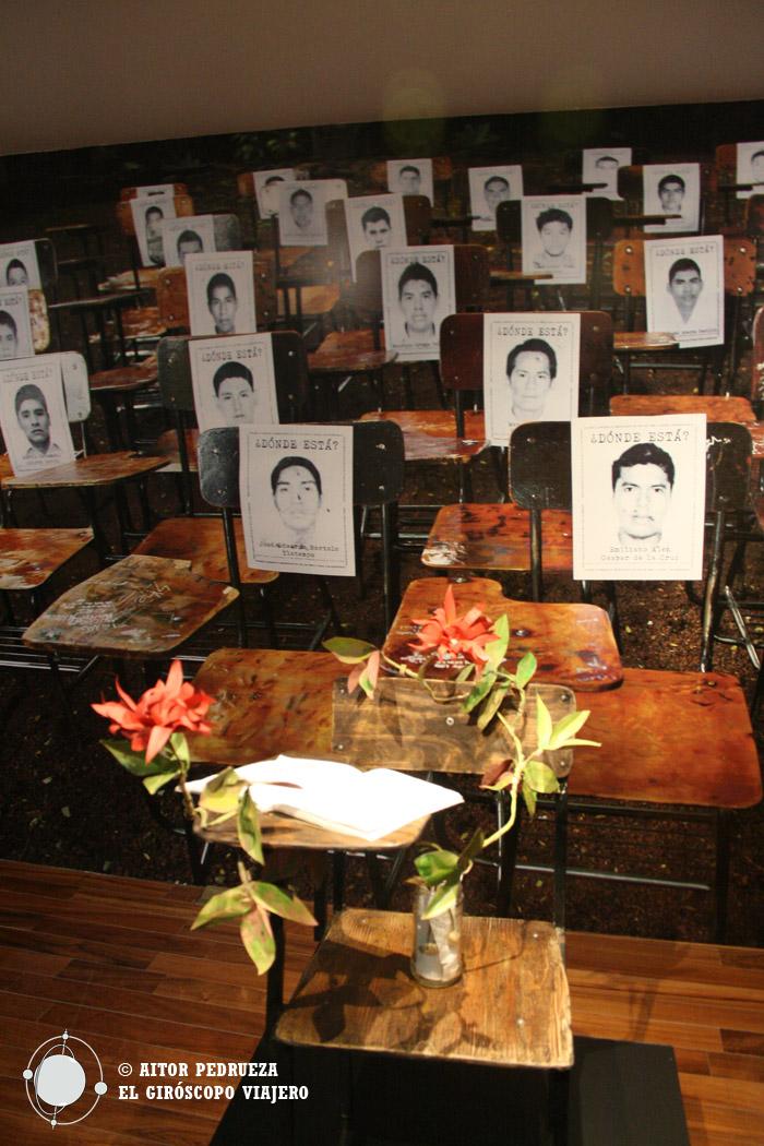 Homenaje a los 43 estudiantes desaparecidos en Ayotzinapa