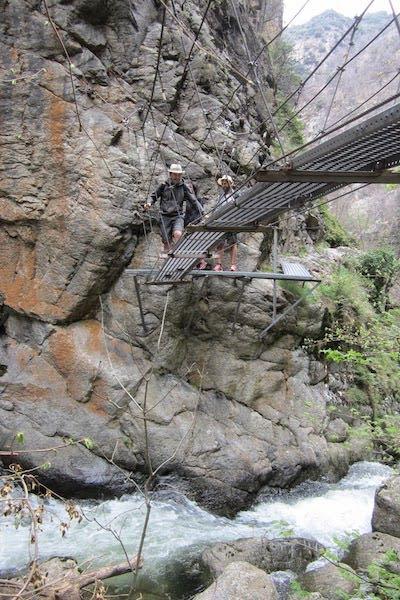 Puentes colgantes en las Gargantas de Carança