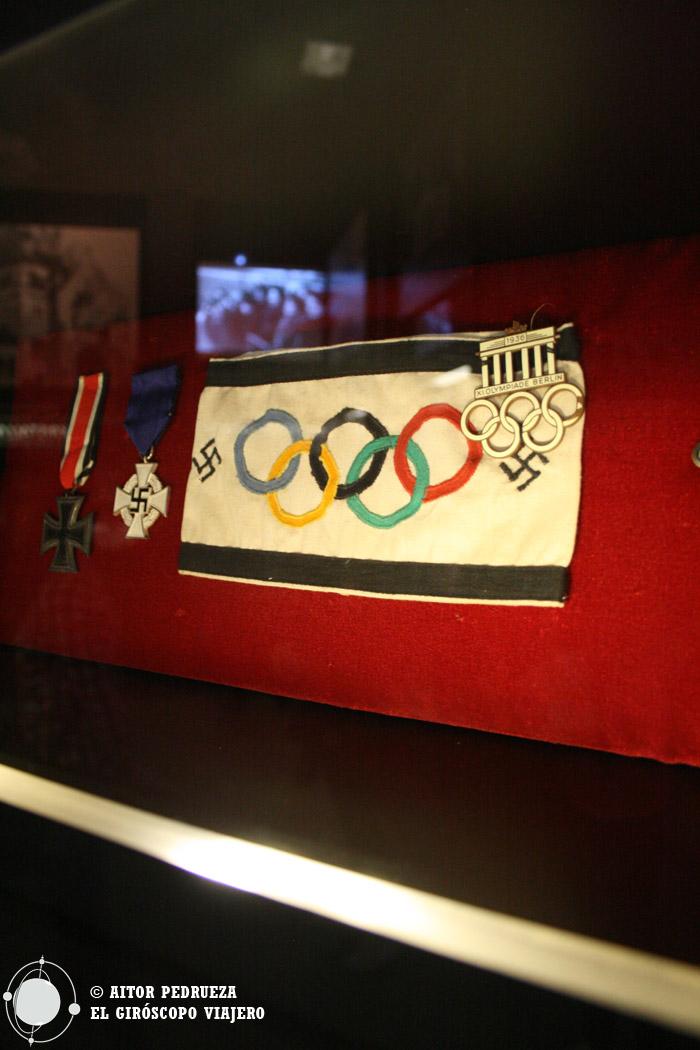 Insignias nazis en las olimpiadas de Berlín de 1936