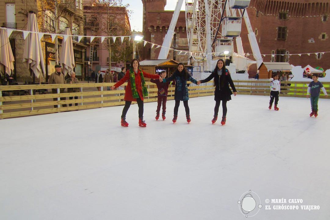 Magia en la pista de patinaje de Perpiñán