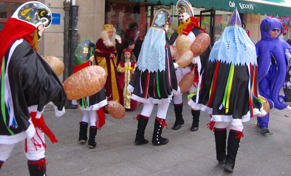 Las calles de Xinzo en Carnaval. ©María Calvo.