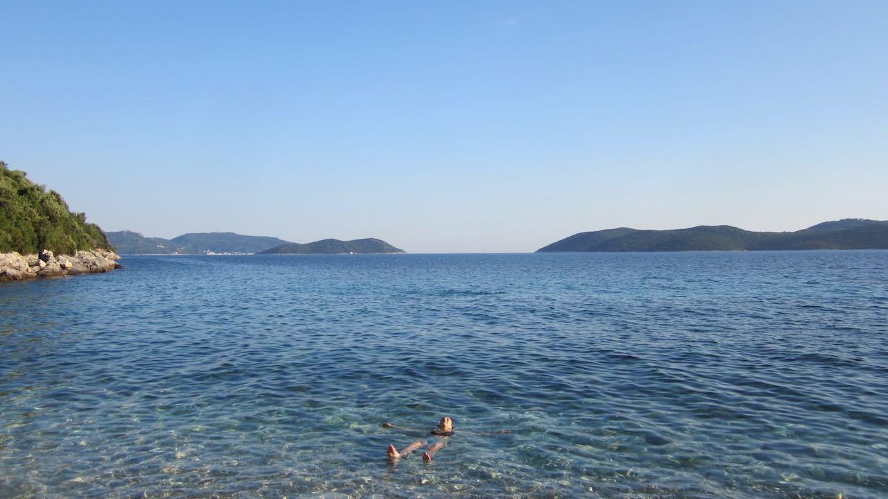 Deliciosas las aguas del Adriático en junio