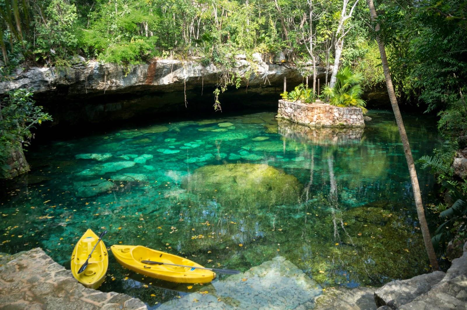 Cenotes y Río subterráneo en eL Eco-Park Kantun-Chi