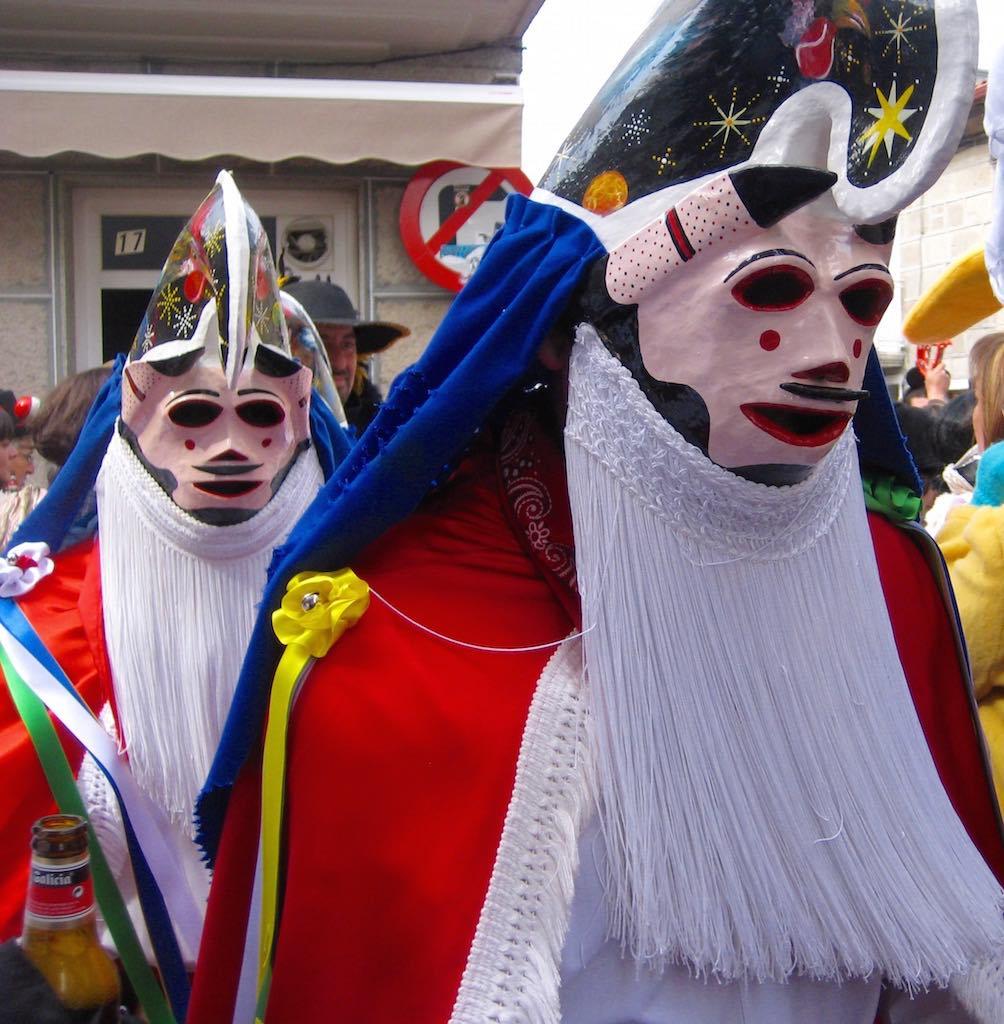 Pantallas del Carnaval de Xinzo de LImia. ©María Calvo.