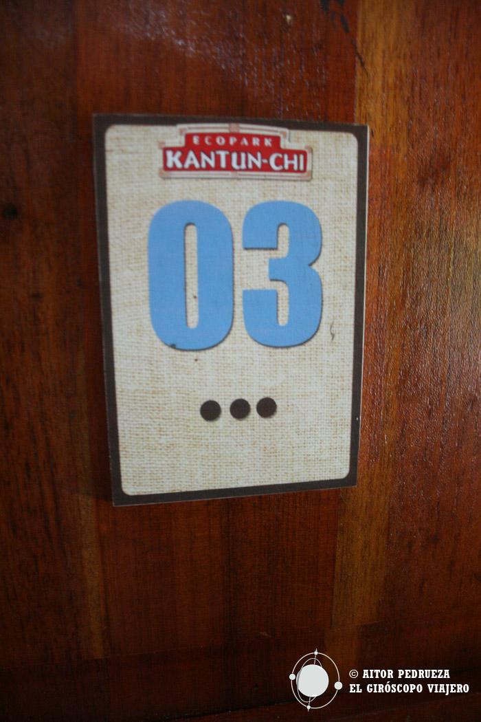 Casilleros para dejar las cosas durante la visita a Kantun Chi