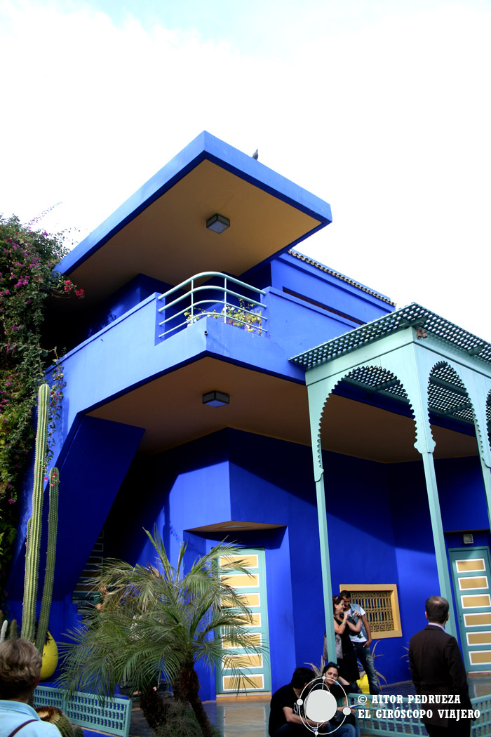 La casa azul presidiendo los jardines Majorelle