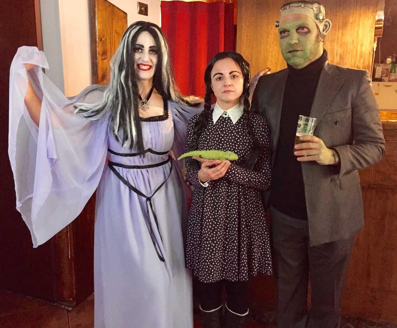 En Xinzo nos encontramos a los Monster y a los Addams juntos y revueltos. ©María Calvo.