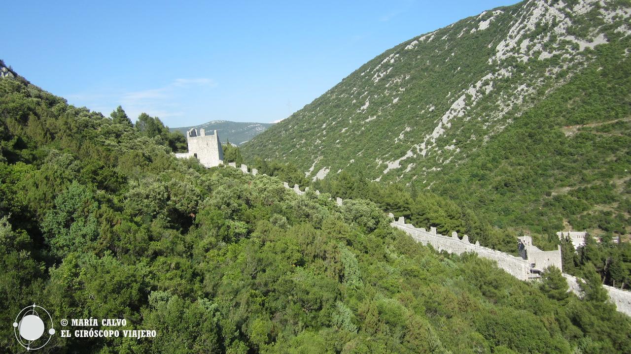 La muralla de Ston recuerda a la muralla china