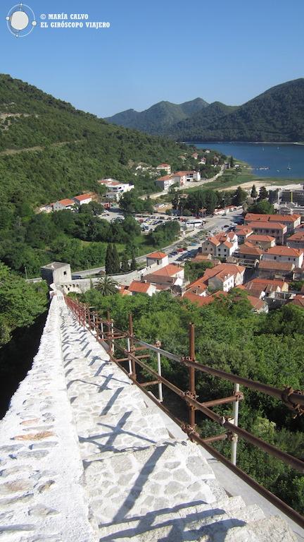 El pueblo de Ston visto desde la magnífica muralla