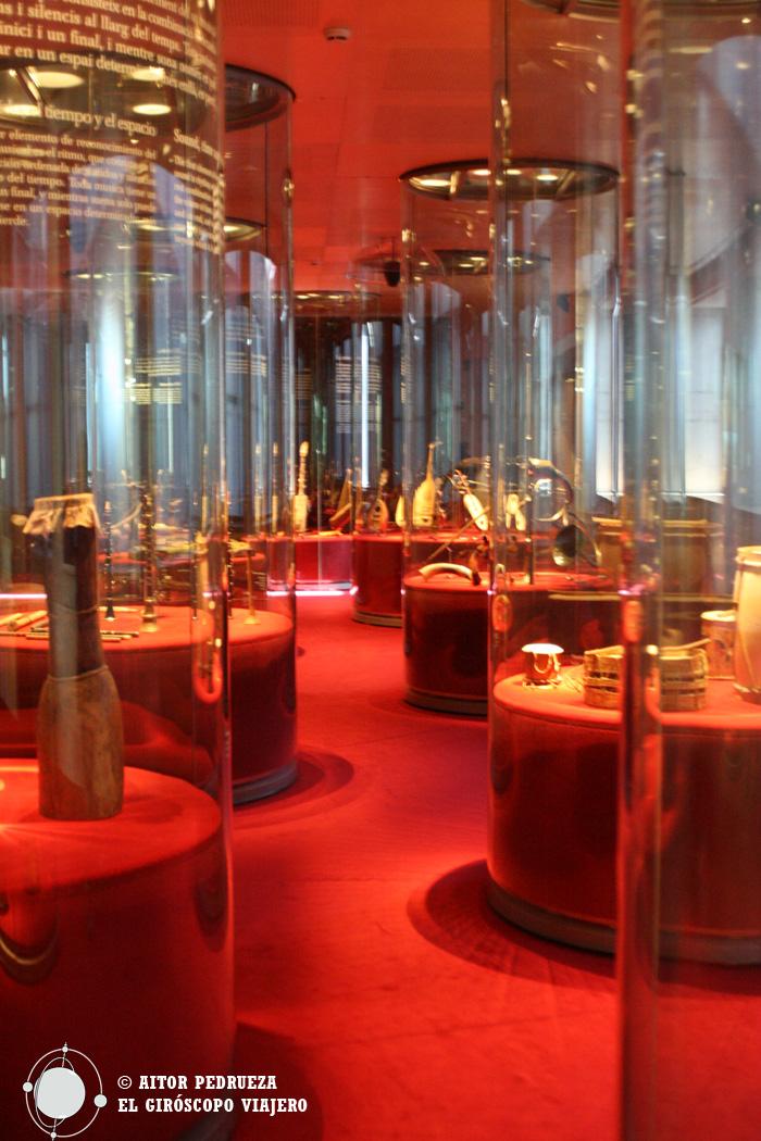 Las salas del Museo de la Música de Barcelona