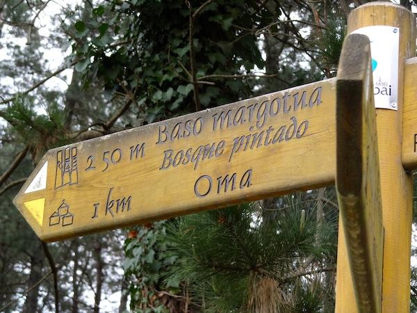 Indicaciones para llegar al Bosque Pintado de Oma
