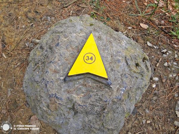 En el recorrido por el Bosque de Oma hay puntos que nos permiten ver las formas pintadas