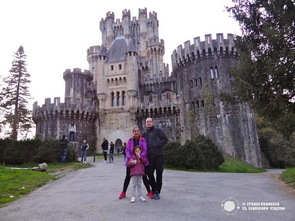 Frente al castillo de Butrón