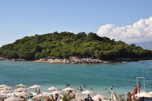 Playa de Ksamili. La Riviera albanesa.