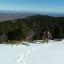 En la nieve de los Pirineos franceses. Pico de la Rouquette.