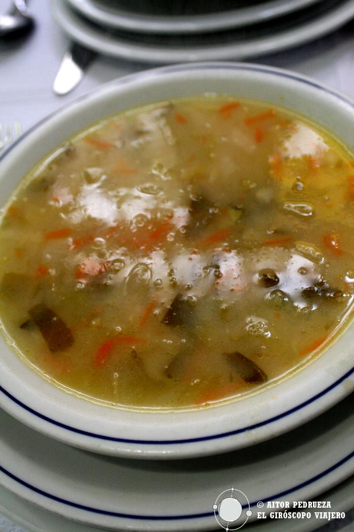 Comida casera en uno de los mejores lugares que encontramos en Guimaraes