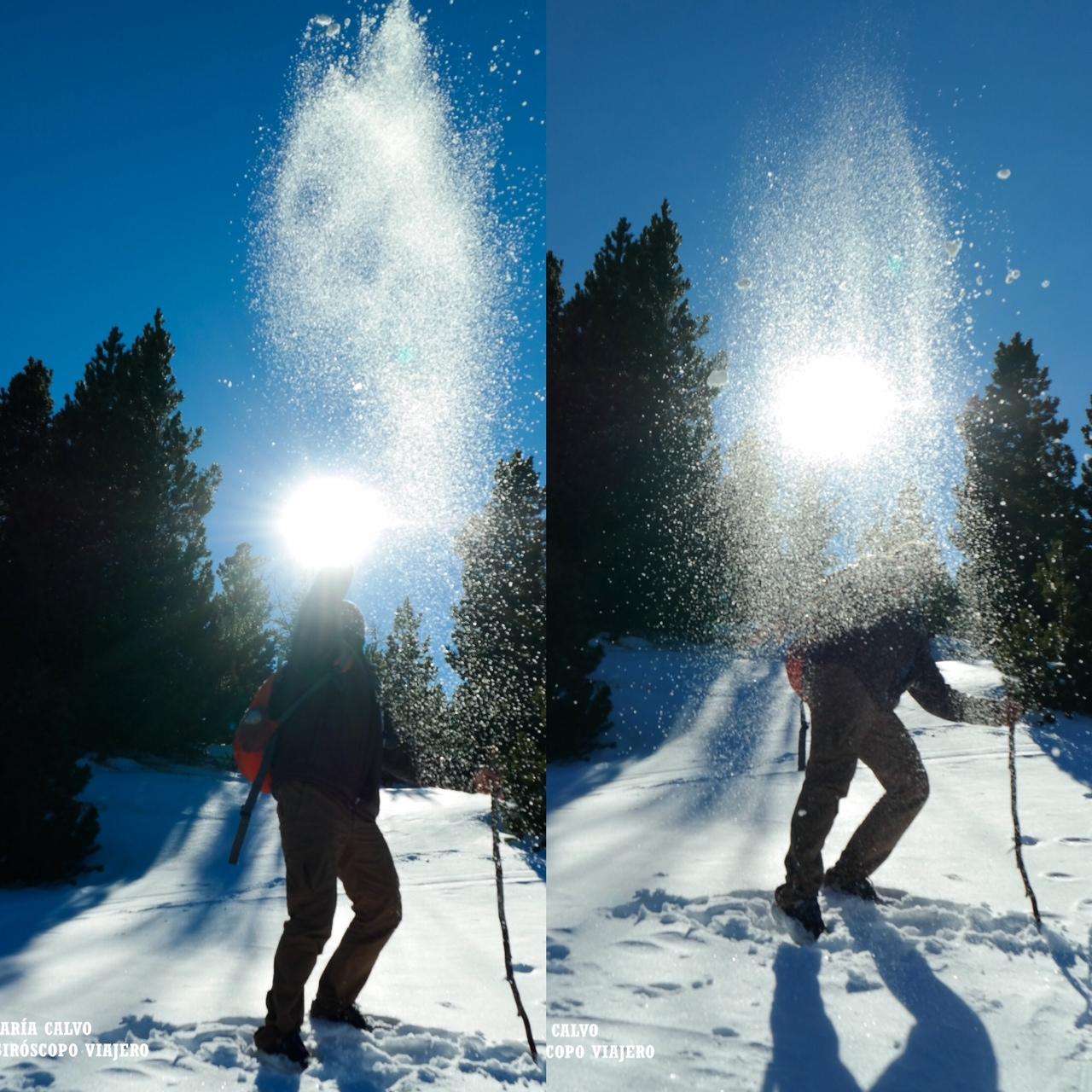 Jugar con la nieve, pura felicidad
