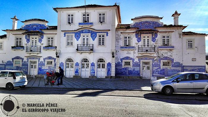 Fachada de la Vieja Estación de Aveiro