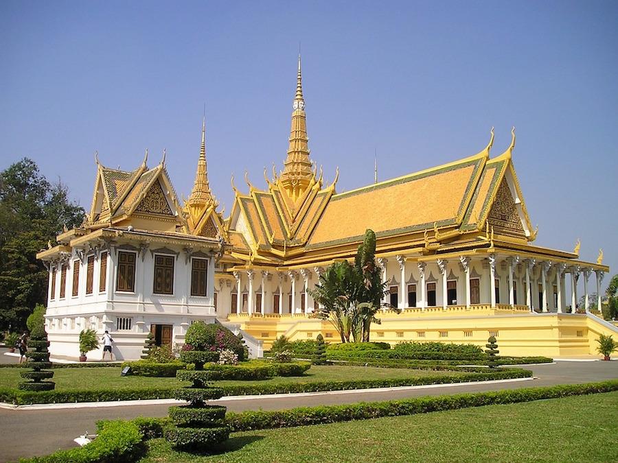 Palacio real de Phnom Penh.